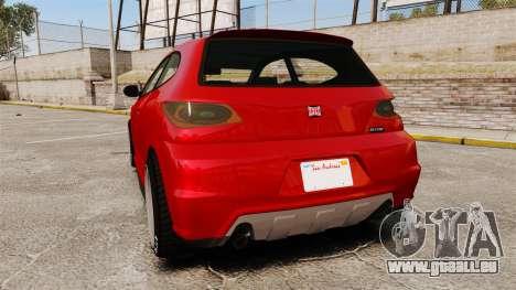 GTA V Dinka Blista für GTA 4 hinten links Ansicht