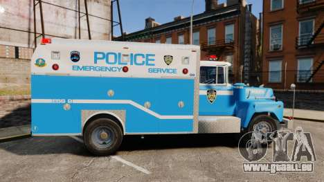 Mack R Bronx 1993 NYPD Emergency Service [ELS] für GTA 4 linke Ansicht