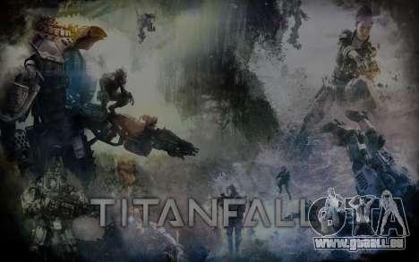 Les écrans de démarrage et de menus Titanfall pour GTA San Andreas troisième écran