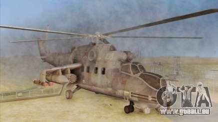 Mi-24D Hind from Modern Warfare 2 pour GTA San Andreas