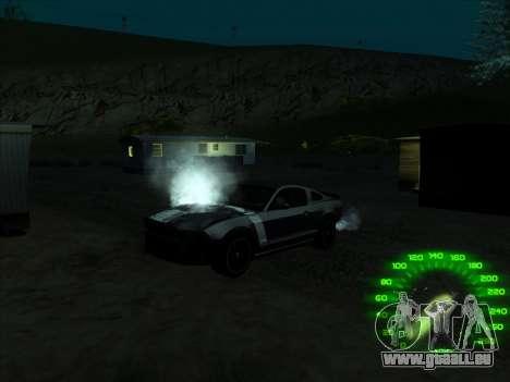 Le compteur de vitesse dans le style d'un néon pour GTA San Andreas troisième écran