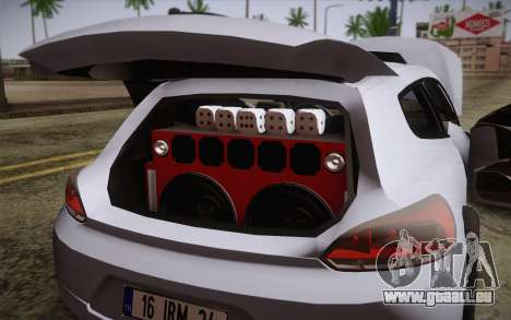 Volkswagen Scirocco pour GTA San Andreas vue intérieure