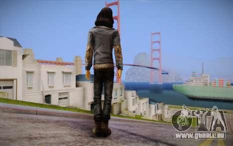 Sarah из The Walking Dead pour GTA San Andreas deuxième écran