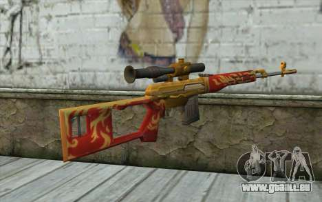 Le Dragunov Sniper Rifle (Point Blank) pour GTA San Andreas deuxième écran