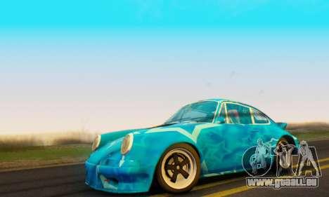 Porsche 911 Blue Star pour GTA San Andreas sur la vue arrière gauche
