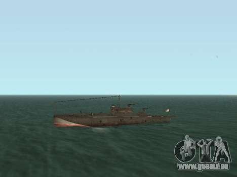 Le torpilleur type G-5 pour GTA San Andreas vue intérieure