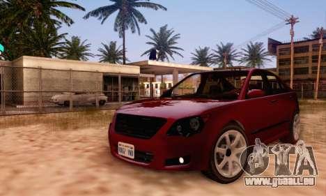 Karin Asterope V1.0 pour GTA San Andreas vue de dessous