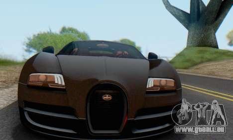 Bugatti Veyron Super Sport 2011 pour GTA San Andreas vue intérieure