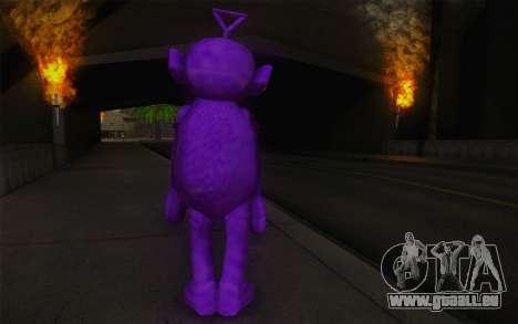 Casting de crépi-Winky des Teletubbies pour GTA San Andreas deuxième écran