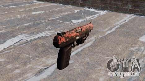 Pistolet FN Cinq à sept LAM Rouge tigre pour GTA 4 secondes d'écran