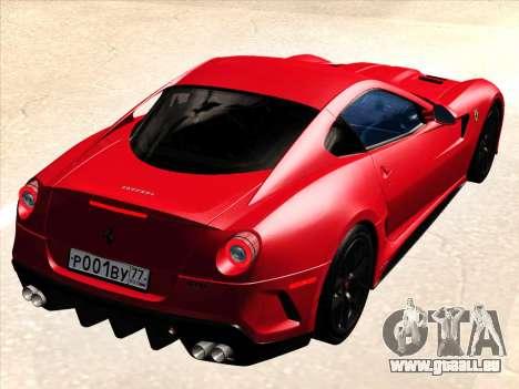 Ferrari 599 GTO pour GTA San Andreas vue de droite