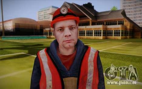 Route travailleur pour GTA San Andreas troisième écran