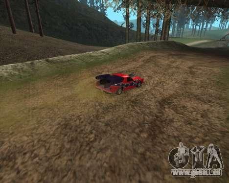 Rocket Picador GT pour GTA San Andreas sur la vue arrière gauche
