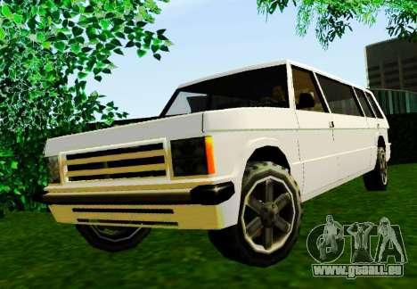 Huntley Limousine pour GTA San Andreas