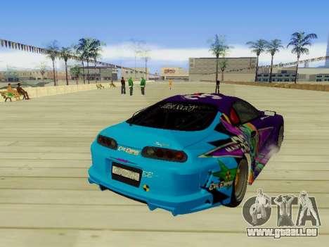 Toyota Supra Evil Empire pour GTA San Andreas vue arrière