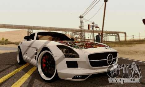 Mercedes SLS AMG Hamann 2010 Metal Style pour GTA San Andreas sur la vue arrière gauche