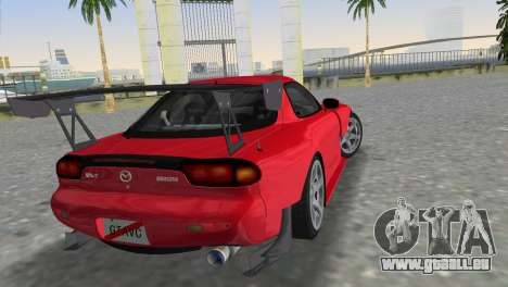 Mazda RX7 FD3S RE Amamiya Road Version für GTA Vice City linke Ansicht