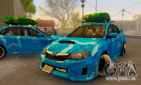 Subaru Impreza Blue Star für GTA San Andreas Innen