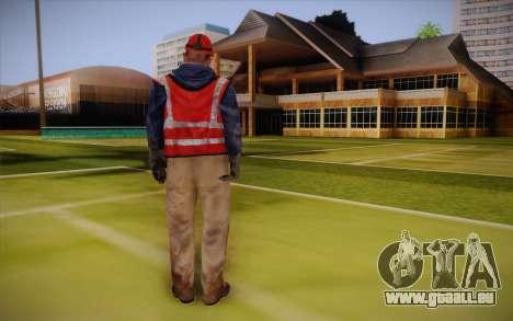 Route travailleur pour GTA San Andreas deuxième écran