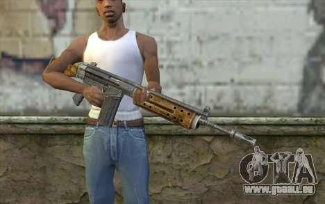 R91 Assault Rifle pour GTA San Andreas troisième écran