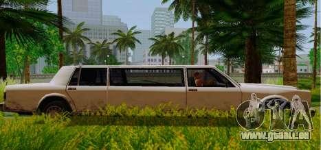 Greenwood Limousine pour GTA San Andreas laissé vue