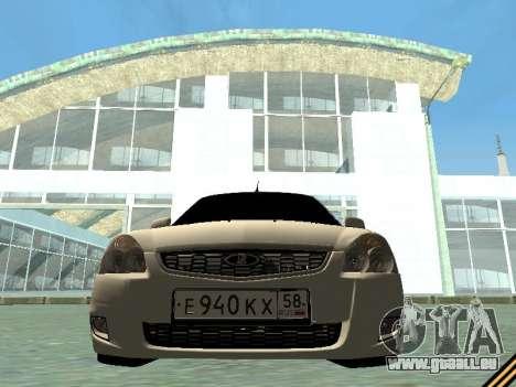 Lada 2170 Priora für GTA San Andreas Innenansicht
