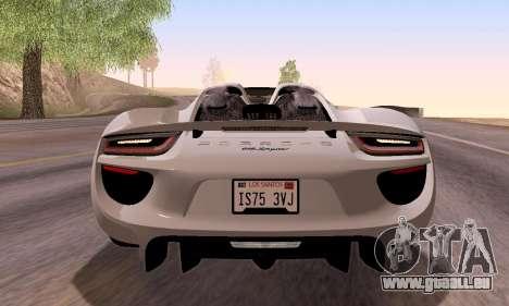 Porsche 918 2013 für GTA San Andreas Seitenansicht