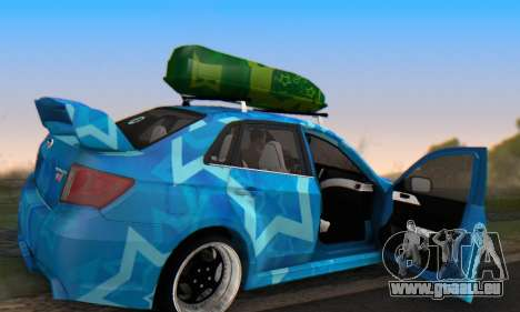 Subaru Impreza Blue Star pour GTA San Andreas vue de dessus