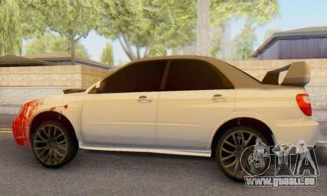 Subaru Impreza WRX für GTA San Andreas zurück linke Ansicht