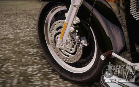 Harley-Davidson Fat Boy Lo 2010 pour GTA San Andreas vue intérieure