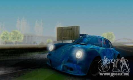 Porsche 911 Blue Star pour GTA San Andreas vue arrière