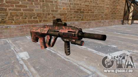 Machine Steyr AUG A3 Rouge tigre pour GTA 4