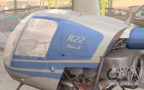 Robinson R22 für GTA San Andreas Innenansicht