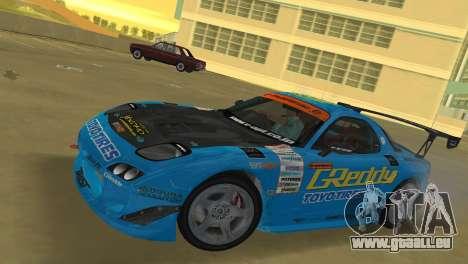 Mazda RX7 FD3S RE Amamiya G-Reddy pour une vue GTA Vice City de la gauche