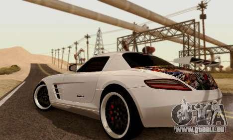 Mercedes SLS AMG Hamann 2010 Metal Style für GTA San Andreas rechten Ansicht