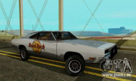 Dodge Charger 1969 Hard Rock Cafe für GTA San Andreas linke Ansicht