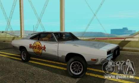 Dodge Charger 1969 Hard Rock Cafe pour GTA San Andreas laissé vue