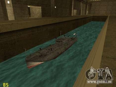 Le torpilleur type G-5 pour GTA San Andreas vue arrière