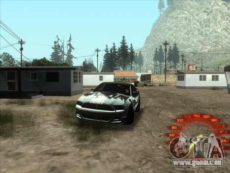Le compteur de vitesse dans le style d'un néon pour GTA San Andreas