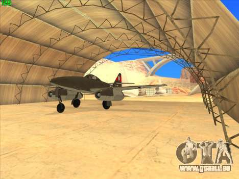 Messerschmitt Me.262 Schwalbe für GTA San Andreas
