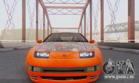 Nissan 300ZX Fairlady pour GTA San Andreas laissé vue