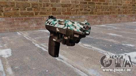 Pistole FN Five seveN LAM Aqua Camo für GTA 4