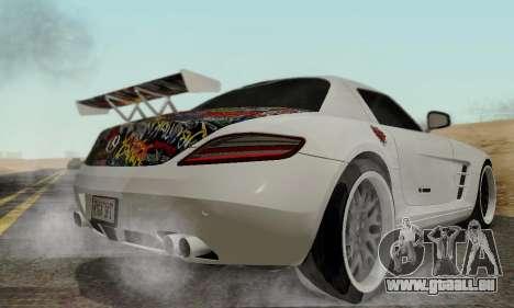 Mercedes SLS AMG Hamann 2010 Metal Style für GTA San Andreas Rückansicht