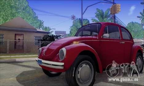 1973 Volkswagen Beetle pour GTA San Andreas vue intérieure