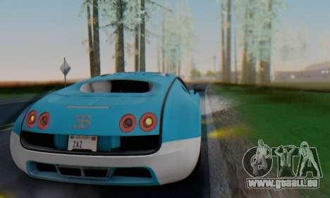 Bugatti Veyron Super Sport 2011 pour GTA San Andreas vue de dessus