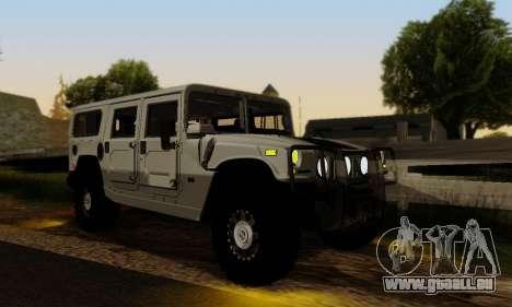Hummer H1 Alpha pour GTA San Andreas vue intérieure