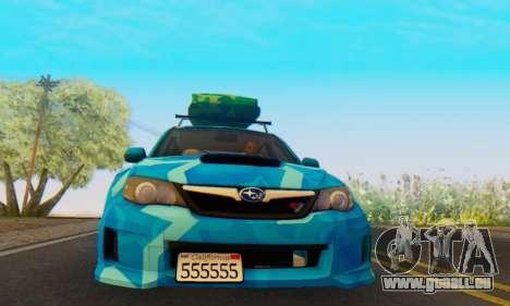 Subaru Impreza Blue Star pour GTA San Andreas laissé vue
