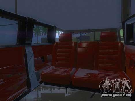 Hummer H2 Limousine pour GTA San Andreas vue de côté