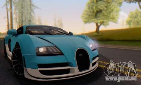 Bugatti Veyron Super Sport 2011 pour GTA San Andreas salon