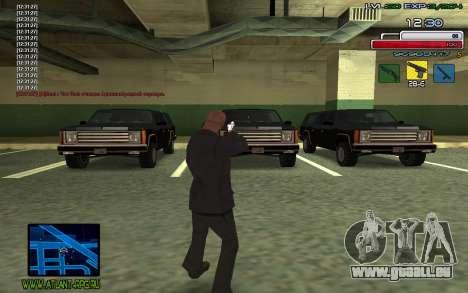 C-HUD SampHack pour GTA San Andreas troisième écran